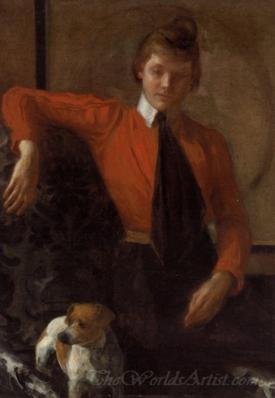 Portrait Of Madeleine Lemoinme Daughter Of General Chardonne