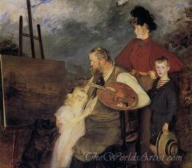 Le Peintre Thaulow Et Ses Enfants  (The Painter Thaulow And His Children)