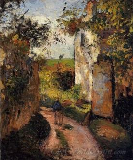 A Peasant In The Lane At Lhermitage Pontoise