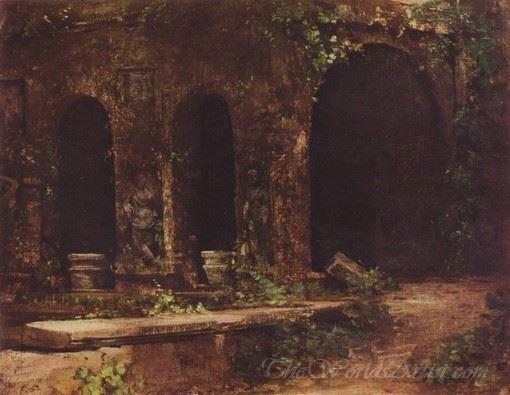 Grotto In The Gardens Of Villa Deste Near Rome