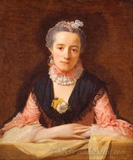 Lady In A Pink Silk Dress
