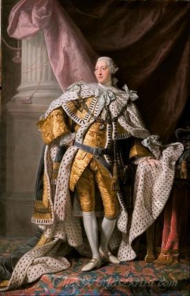 Portrait Of King George Iii In Coronation Robes