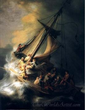 The Storm On The Sea Of Galilee  (Christ In The Storm)