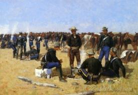 A Cavalrymans Breakfast On The Plains
