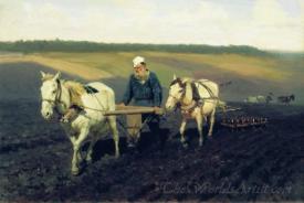 Ploughman Lev Nikolayevich Tolstoy