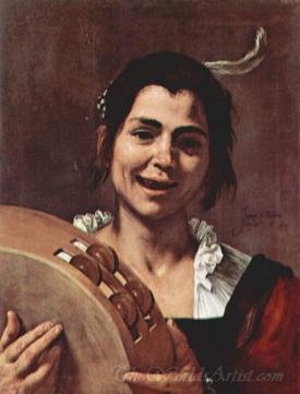 Girl With Tambourine