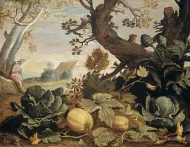 Landscape With Fruit And Vegetables In The Foreground