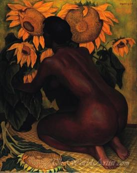 Desnudo Con Girasoles  (Nude With Sunflowers)