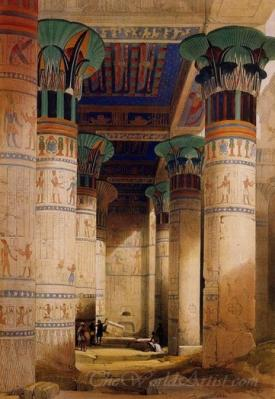 Temple Of Isis On The Island Of Philae Egypt