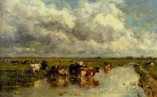 Meadow With Cattle