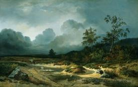 Landscape In An Approaching Storm