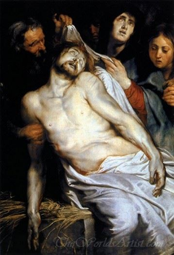Lamentation Christ On The Straw