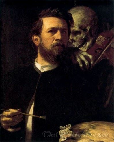 Portrait Of Myself With Death Playing A Violin