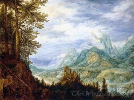 Mountainous Landscape With A Castle