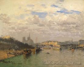 La Seine At Notre Dame