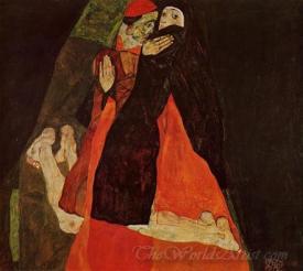 Cardinal And Nun The Caress