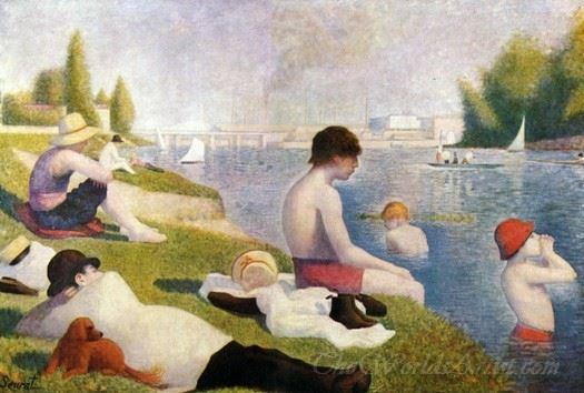 Bathers At Asnieres  (Un Baignade Asnieres)