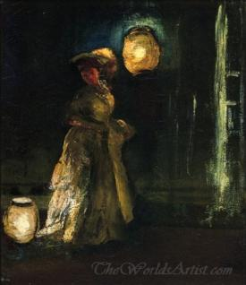 Girl With Japanese Lanterns