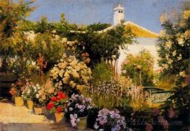 Jardin De La Casa De Los Senores Calvo Lozano  (Garden Of House Of The Gentlemen Calvo Lozano)