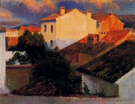 Paisaje Con Tejados  (Landscape With Rooftops)