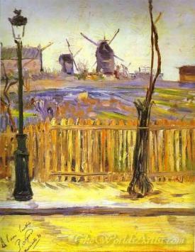 Rue Caulaincourt Windmills On Montmarte
