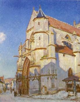 The Church At Moret  (Notre Dame De Moret Sur Loing)