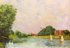 Thames With Hampton Court