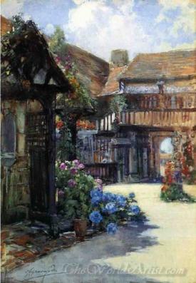 Courtyard Scene Inn Of William The Conquueror