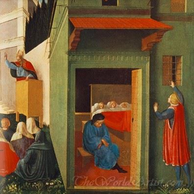 The Story Of St Nicholas Giving Dowry To Three Poor Girls
