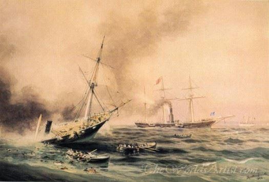 Battle Of The Kearsarge And Alabama