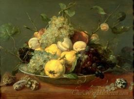 Still Life With Fruit In The Porcelain Bowl