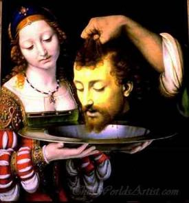 Salome With Head Of John The Baptist