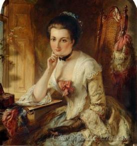 Portrait Lady With Letter