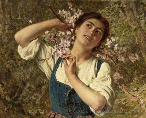 Capri Girl With Flowers