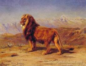 Lion In A Landscape