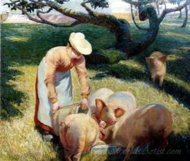 Le Repas Des Cochons  (Feeding Of The Pigs)