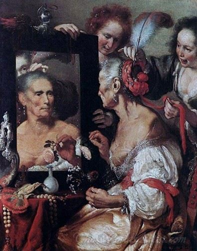 Old Woman At The Mirror