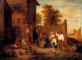 Peasants Merrying Outside An Inn