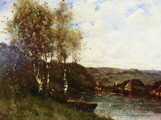 Fisherman At The Rivers Edge