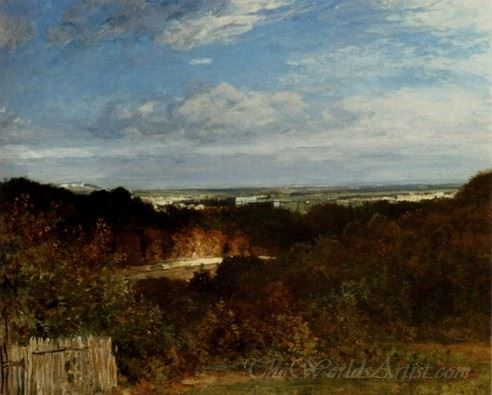 A View Towards The Seine From Suresnes