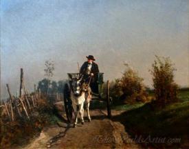 Un Fermier Dans Sa Charrette  (A Farmer In His Horse Cart)