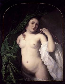 A Naked Woman With Drapery