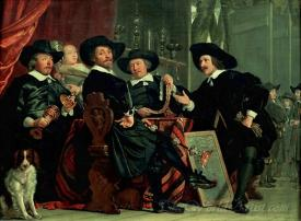 Officers Of The St Sebastian Militia At Amsterdam