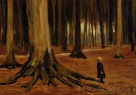 A Girl In A Wood