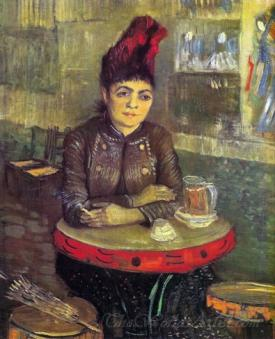 Agostina Segatori Sitting In The Cafe Du Tamourin