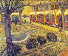 Garden Of The Hospital In Arles  (The Courtyard Of The Hospital At Arles)