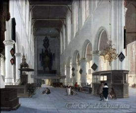 Das Innere Der Oude Kerk Zu Delft