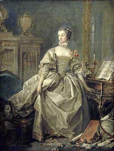 Portrait Of Marquise De Pompadour