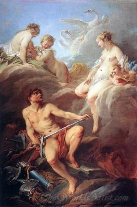 Venus Demanding Arms From Vulcan For Aeneas