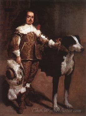 Portrait Of A Dwarf Dressed In Rich Robes And Sword
